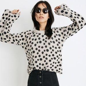 Madewell leopard print crew neck xxs